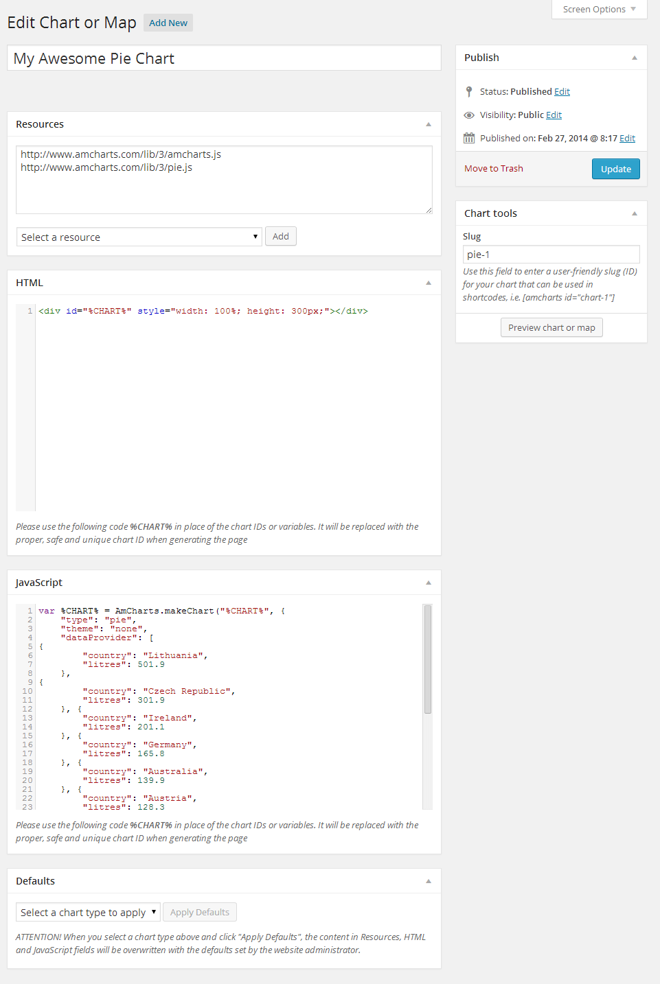 amCharts: Charts and Maps - Plugin — KBase-WP latest